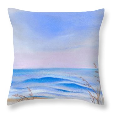 Atlantic Evening Throw Pillow by MM Anderson