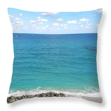 Atlantic Ocean In South Florida Throw Pillow