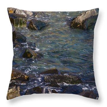 Atlantic Ocean Maine Throw Pillow