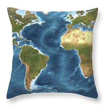 Noaa Chart Throw Pillows