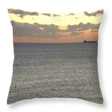 Throw Pillow featuring the photograph Atlantic Ocean Sunrise by Ron Davidson
