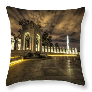 Atlantic Side Of The World War II Memorial Throw Pillow