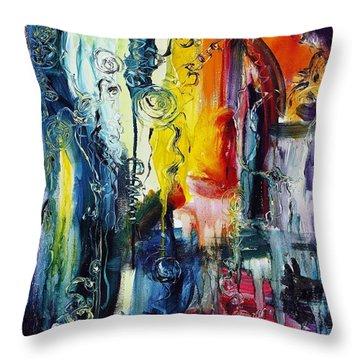 Atlantis Sinking Throw Pillow by Regina Valluzzi