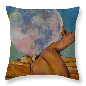 Atlas Throw Pillow by Michael Creese