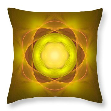 Atome-35 Throw Pillow by RochVanh
