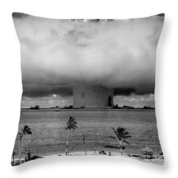 Atomic Bomb Test Throw Pillow