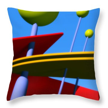 Atomic Dream Throw Pillow by Richard Rizzo