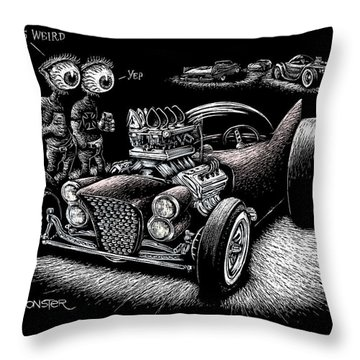 Atomic Weirdness Throw Pillow