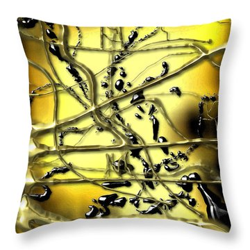 Atoms Throw Pillow