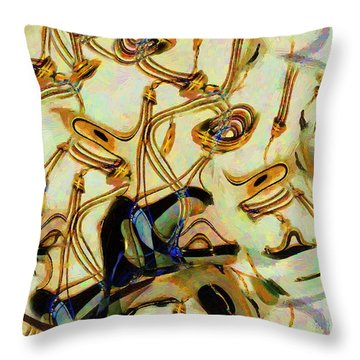 Atomsmasher Throw Pillow by RC DeWinter