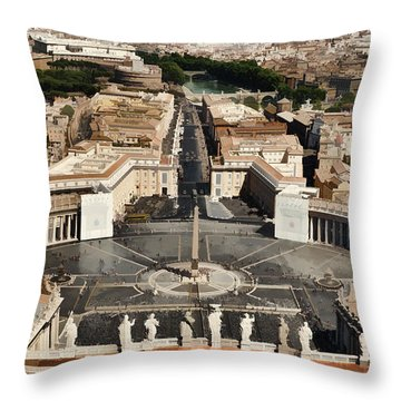 Atop The Domo - Vatican Throw Pillow by Jon Berghoff