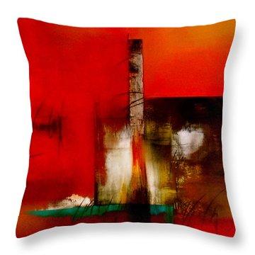 Atracando Throw Pillow by Thelma Zambrano