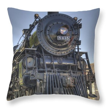 Atsf 3415 Head On Throw Pillow by Shelly Gunderson