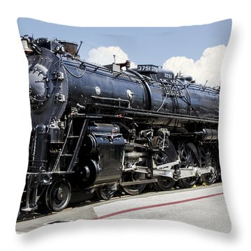 Throw Pillow featuring the digital art A T S F 3751 by Photographic Art by Russel Ray Photos