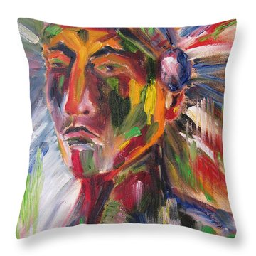 Atsila, Native American Throw Pillow