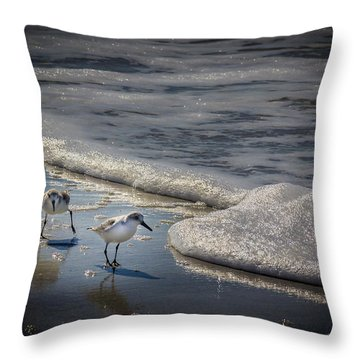 Attack Of The Sea Foam Throw Pillow