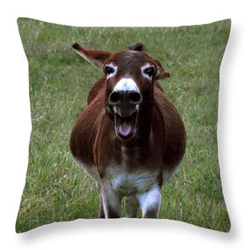 Throw Pillow featuring the photograph Attack by Peter Piatt