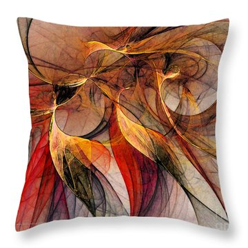 Attempt To Escape-abstract Art Throw Pillow