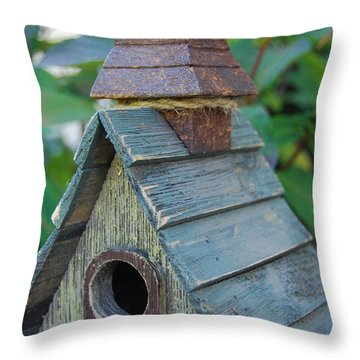 Throw Pillow featuring the photograph Attic Space by Jani Freimann