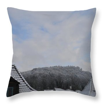 Throw Pillow featuring the photograph Attic Windows Open To The Sky by Felicia Tica