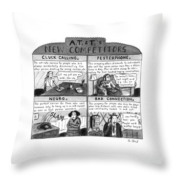 A.t.&t.'s New Competitors Throw Pillow