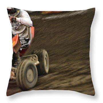 Atv Speed Throw Pillow by Karol Livote