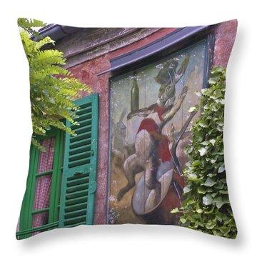 Au Lapin Agile Throw Pillow by Alan Toepfer