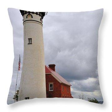 Au Sable Point Light Throw Pillow