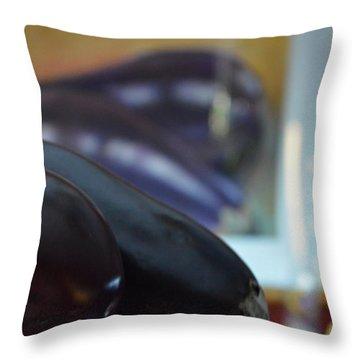 Throw Pillow featuring the photograph Aubergine A Go Go  by Brian Boyle