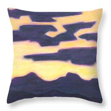 Aubergine Nightfall Throw Pillow