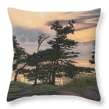 Auburn Evening Throw Pillow by Kenneth M  Kirsch