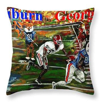 Auburn Georgia Football  Throw Pillow by Mark Moore