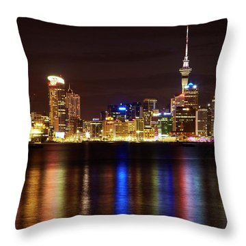 Central Business District Throw Pillows