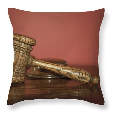 Auction Hammer Throw Pillow by Svetlana Sewell
