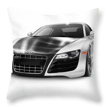 Audi Quattro R8 Turbo Sports Car Throw Pillow