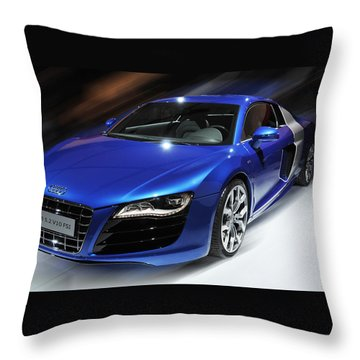 Audi R8 V10 Fsi Throw Pillow