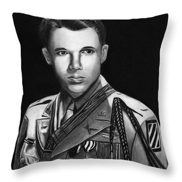 Audie Murphy Throw Pillow by Peter Piatt