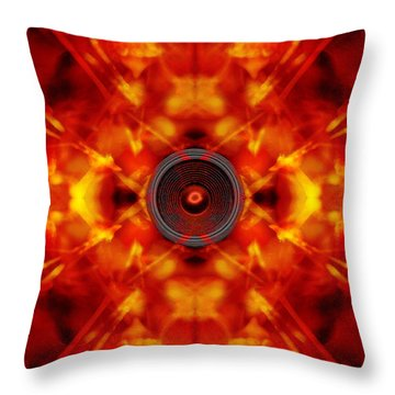 Audio Kaleidoscope Throw Pillow