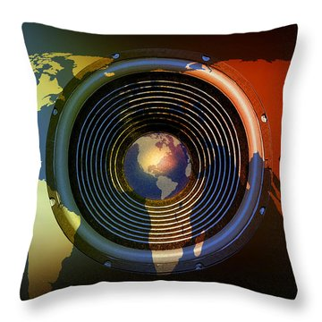 Audio World Throw Pillow