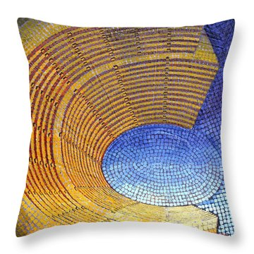 Throw Pillow featuring the painting Auditorium by Mark Howard Jones