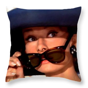 Audrey Hepburn @ Breakfast At Tiffany's Throw Pillow