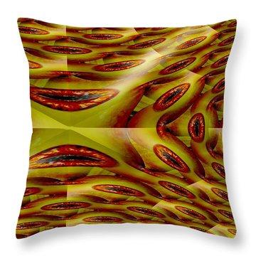 Augen An Der Wand Throw Pillow