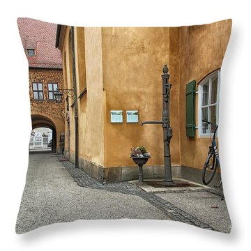 Throw Pillow featuring the photograph Augsburg Germany by Paul Fearn