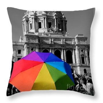 Love Is The Law Throw Pillow