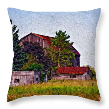 August Afternoon Impasto Throw Pillow by Steve Harrington