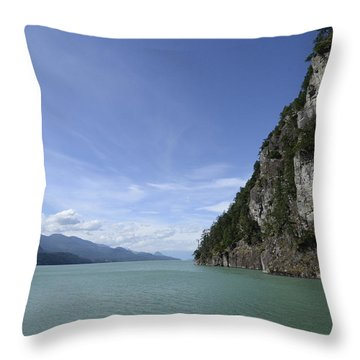 August Afternoon On Harrison Lake Bc Throw Pillow