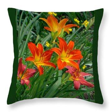 Lilies Galore Throw Pillow