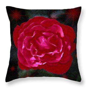 August Rose Throw Pillow by Richard Farrington