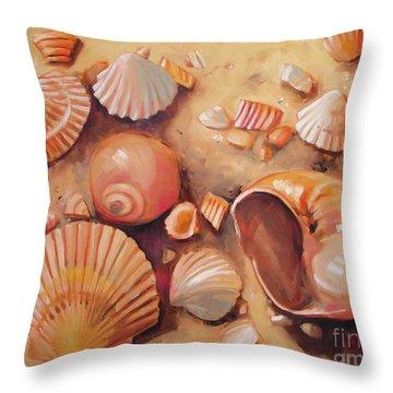 August Shells Throw Pillow