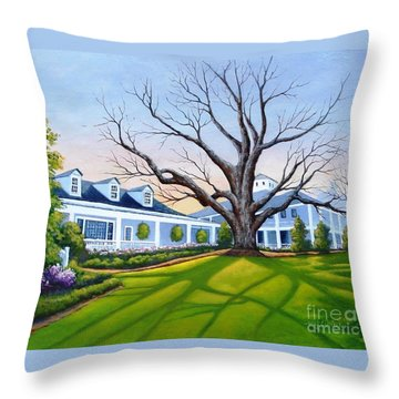 Augusta National Clubhouse Throw Pillow